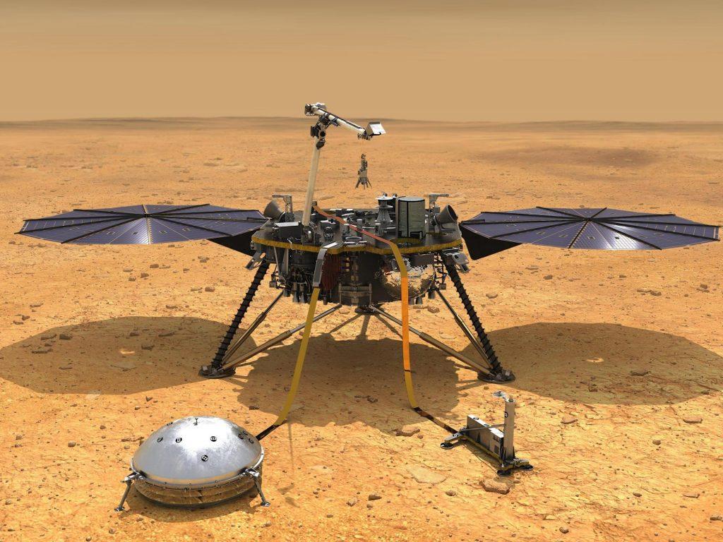 Pesawat luar angkasa NASA Insight Mars sedang dalam masa hibernasi darurat.  Jika Anda tidak dapat menyimpan baterainya, mereka mungkin mati.