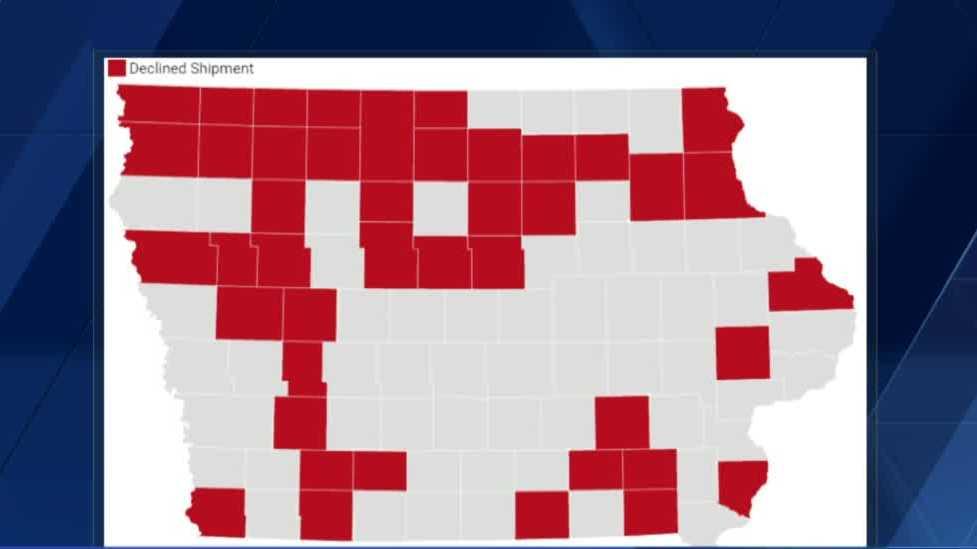 43 Iowa County Menolak Memberikan Vaksin COVID-19 Mingguan