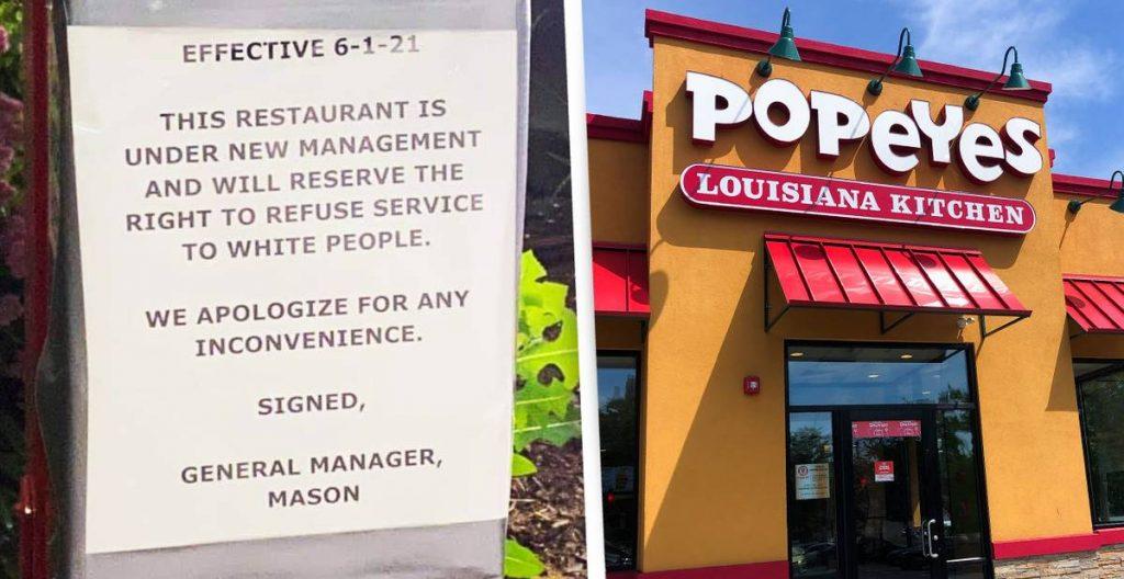 """Restoran Popeyes terpaksa tutup setelah menandatangani tuntutan untuk """"orang kulit putih menolak layanan"""""""
