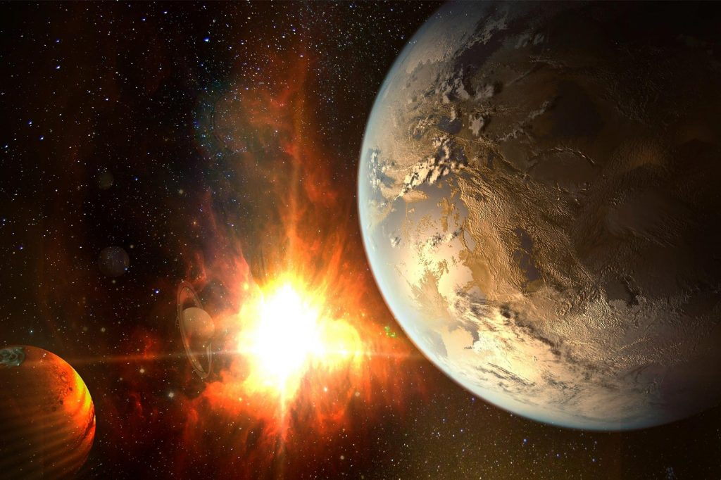 Exoplanet Mystery Concept
