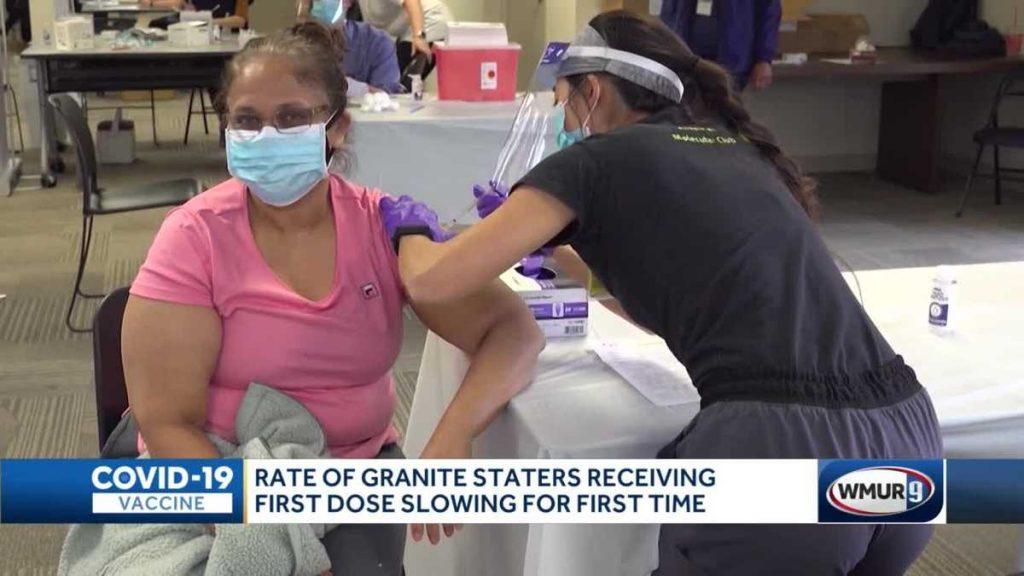 Dengan lebih dari 70% orang dewasa mendapatkan dosis pertama mereka, tingkat vaksinasi melambat di New Hampshire
