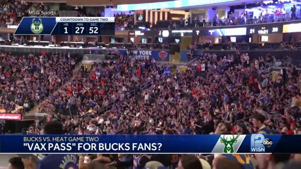 Penggemar Bucks mungkin diminta untuk menunjukkan bukti vaksinasi untuk menonton pertandingan playoff