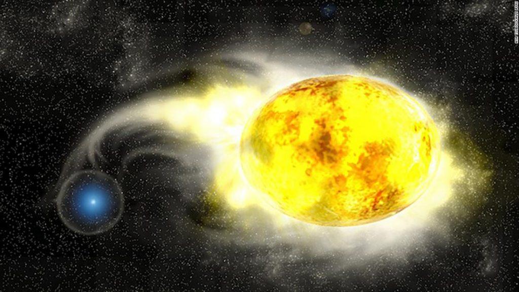 Sebuah `` supernova eksentrik '' mengungkapkan penderitaan kematian bintang sebelum meledak