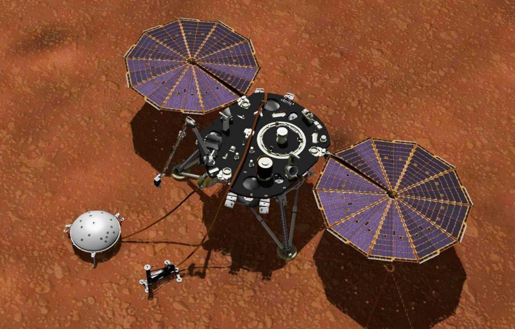 Penjelajah Mars Insight NASA dengan sengaja membuang kotoran ke dirinya sendiri