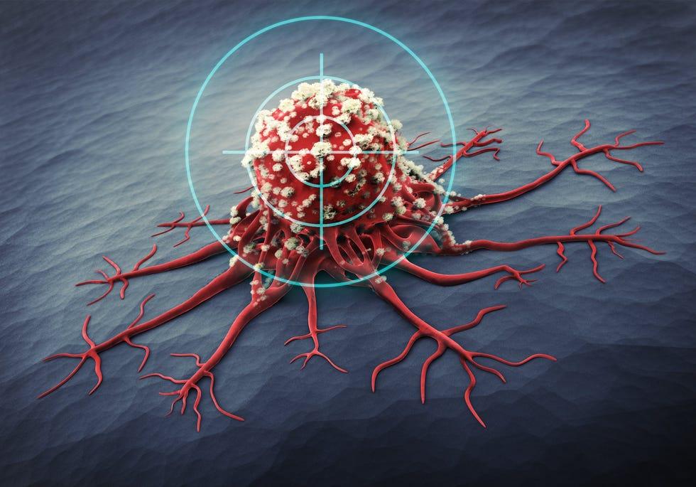 Pandangan mikroskopis dari sel kanker.