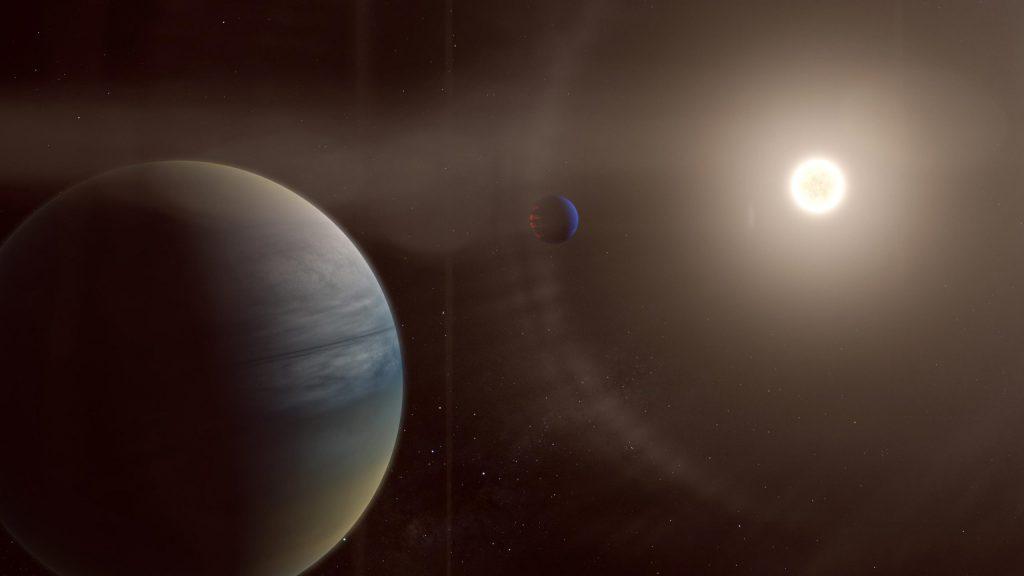 Dua planet gas di sekitar bintang seperti matahari yang terang