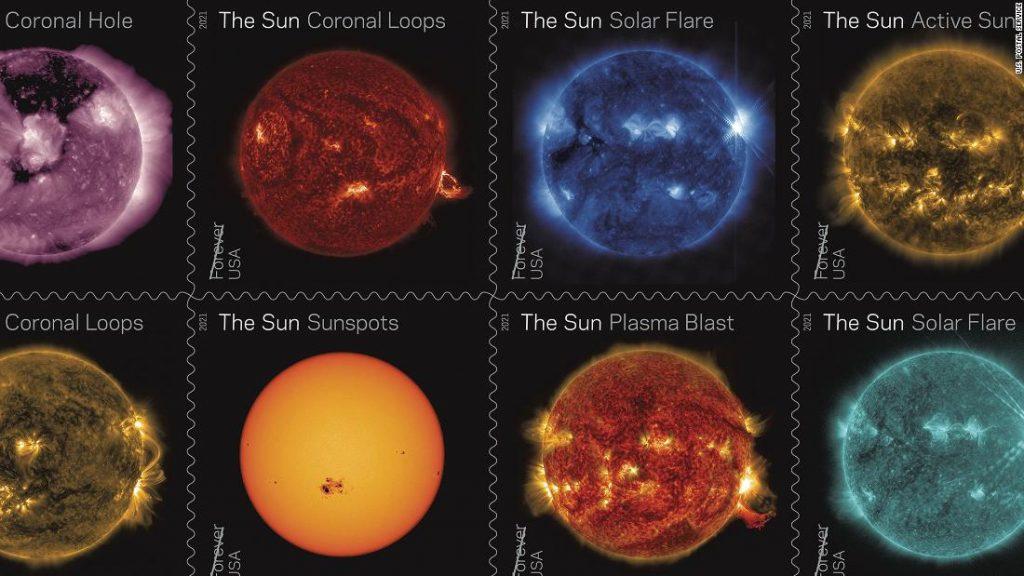 NASA dan USPS: Perangko Baru Merayakan Satu Dekade Menyaksikan Matahari dari Luar Angkasa