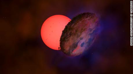 Sebuah bintang raksasa terlihat berkedip di dekat pusat Bima Sakti