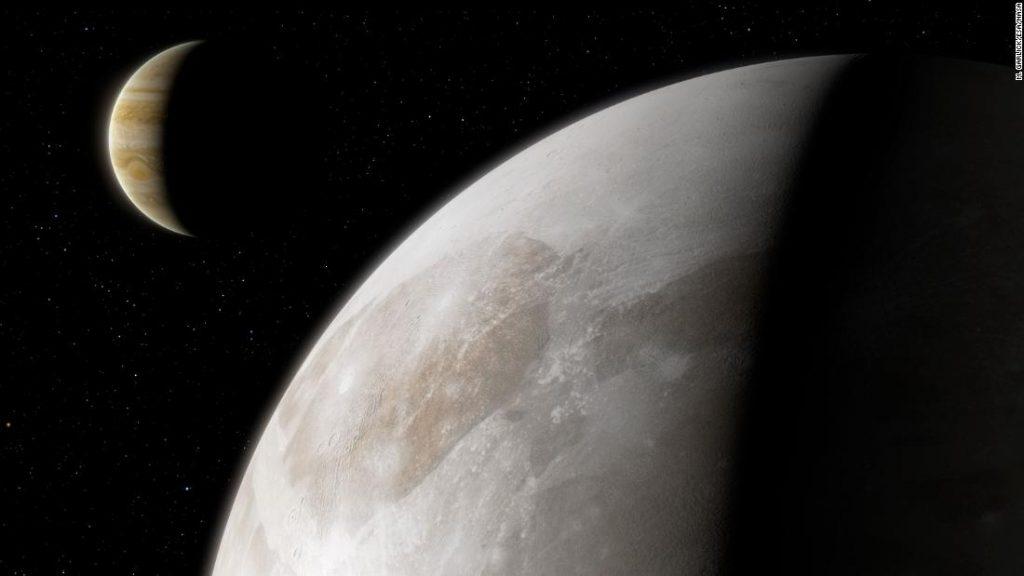 Hubble menemukan uap air di sekitar bulan Jupiter Ganymede