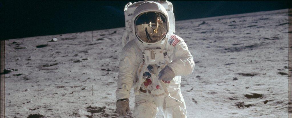 Artis VFX 'Membongkar' Puncak Apollo Klasik untuk Menunjukkan kepada Kita Apa yang Dilihat oleh Buzz Aldrin di Bulan