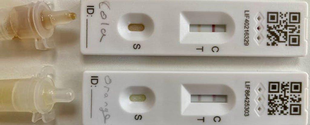 Begini cara anak-anak menggunakan minuman ringan untuk memalsukan tes positif COVID-19 اختبارات