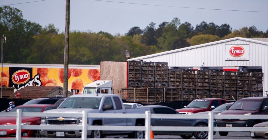 Tyson Foods menarik 8,5 juta pon ayam beku