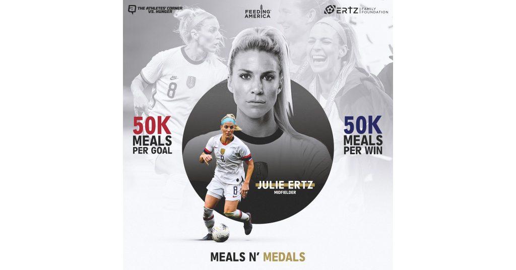 Yayasan Keluarga Ertz dan Pojok Atlet meluncurkan program Meals n 'Medals'