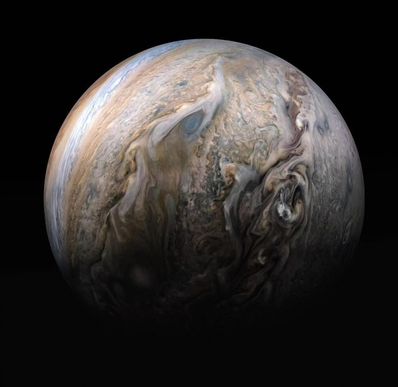 Formasi awan turbulen Jupiter