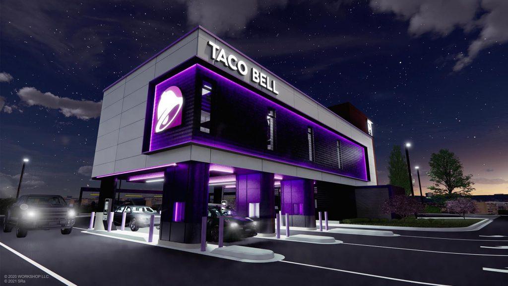 Futuristic Taco Bell Defy is a concept drive-thru restaurant opening in Brooklyn Park, Minnesota