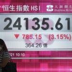 Saham Hong Kong menyebabkan Asia melemah.  Tokyo dan Shanghai ditutup