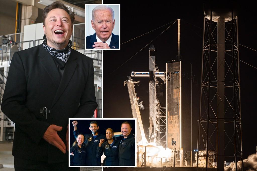 Elon Musk mengejek Biden setelah SpaceX menyelesaikan misinya