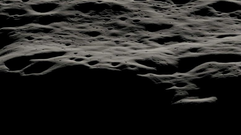 Wilayah pegunungan di sebelah barat Nobile Crater
