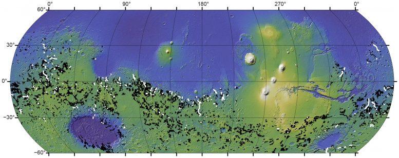 Peta global lembah Sungai Mars