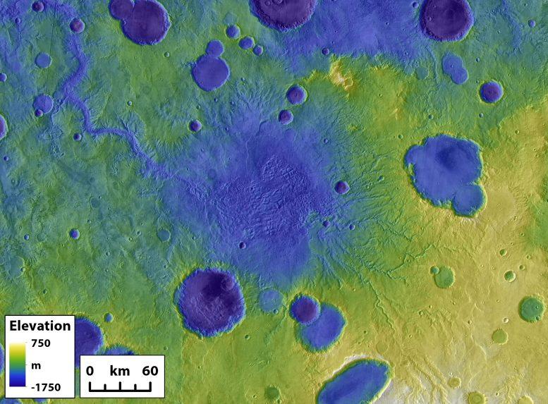 Goudge menembus danau Mars