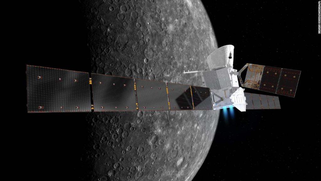 Misi BepiColombo terbang dekat Merkurius untuk pertama kalinya