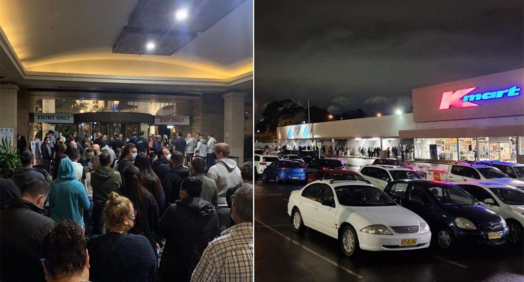 Adegan liar di tengah malam di Kmart, klub saat Sydney keluar dari penguncian