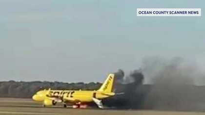 Seekor burung terbang ke mesin pesawat, menyebabkan kebakaran di bandara New Jersey